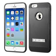 Insten Hard Hybrid Rubberized Silicone Case withstand for Apple iPhone 6, Black