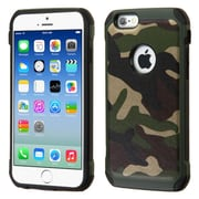 Insten Camouflage Hard Dual Layer Rubber Silicone Cover Case for Apple iPhone 6, Green/Black
