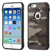 Insten Camouflage Hard Dual Layer Rubberized Silicone Cover Case for Apple iPhone 6, Gray/Black