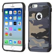 Insten Camouflage Hard Dual Layer Silicone Cover Case for Apple iPhone 6, Blue/Black