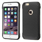 Insten Hard Hybrid Rugged Shockproof Silicone Case for iPhone 6 Plus / 6s Plus, Black