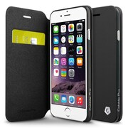 """Cobble Pro Stand Folio Flip Leather Wallet Case with Card slot for iPhone 6/6s 4.7"""" inch, Black"""