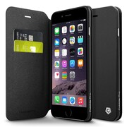 Cobble Pro Stand Folio Leather Wallet Case with Card slot for iPhone 6 Plus/6s Plus 5.5 inch, Black