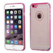 Insten Hard Dual Layer Glitter TPU Case for Apple iPhone 6 Plus/6s Plus, Clear/Hot Pink