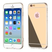 Insten Luxury Ultra Thin Glossy Mirror Transparent Clear TPU Case for Apple iPhone 6 6S, Gold