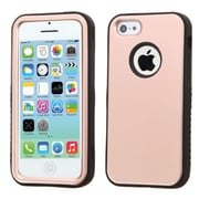 Insten Dual Layer Hybrid Shockproof Hard PC/Silicone Case for iPhone 5C, Rose Gold/Black