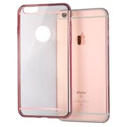 Insten Sunflower Glassy Rubber TPU Gel Case Back Cover for iPhone 6S / 6, Rose Gold (Ultra-thin)