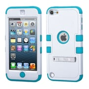 Insten Hybrid 3 Layer Hard Case Cover with Silicone Shockproof Shell for Apple iPod Touch 6 6th 5 5th Gen, White/Blue