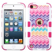Insten Tuff Camo Wave Hard Dual Layer Silicone Cover Case for Apple iPod Touch 5th Gen/6th Gen, Hot Pink/Purple
