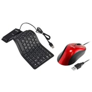 Insten USB Optical Scroll Wheel Mouse + Foldable Silicone USB Keyboard for Laptop PC Computer