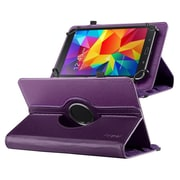 "Insten 360 Degree Rotating Swivel PU Leather Flip Case Stand for Samsung Galaxy Tab 3 7""/4 7"" Tablet 7"", Purple"