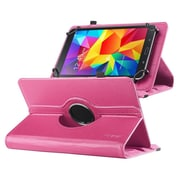 "Insten 360 Degree Rotating Swivel PU Leather Flip Case Stand for Samsung Galaxy Tab 3 7""/4 7"" Tablet 7"", Hot Pink"
