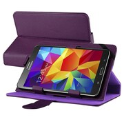 "Insten Leather Universal Stand Folio Protector Case Cover for 7"" Tablets, Purple"