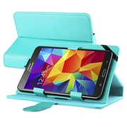 "Insten Leather Universal Stand Folio Protector Case Cover for 7"" Tablets, Baby Blue"