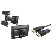 "Insten Wall Mount Bracket for Flat Panel LCD / Plasma TV [B01], Max 33lbs, 10"" - 24"", Black (Plus 2-Pack 6' HDMI Cable)"