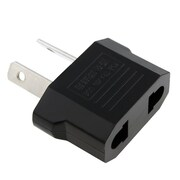 Insten 2 Packs Black US EU to Australia Travel AC Power Adapter For Apple iPhone 6S Plus 6 6+ 5C 5S 5 4 4S 3G 3GS
