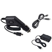Insten Car/AC Wall Travel Charger+USB Cable for Garmin Nuvi 310 370 755t 765T