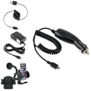 Insten Car/AC Charger + USB Cable + Phone Mount for HTC One M7 myTouch, Samsung Galaxy ,Note & Edge