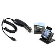 Insten Car Charger + Stand Holder Mount for AT&T HTC One M7 Inspire 4G Samsung Galaxy S7 S6 S5 S4 S3 Note 3 4 5 N9100