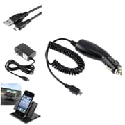 Insten 2-Pack Travel Charger + Car Holder + Cable for Samsung Galaxy Note 2 N7100 Note 4 3 N9100 N9000