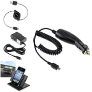 Insten Micro USB Bundle Car/AC Wall Charger + Cable + Phone Holder for Samsung Galaxy/Mega / HTC One/M7 M8