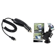 Insten Car Charger + Suction Mount for Samsung GALAXY Note 2 3 4 5 Galaxy S3 S4 S5 S6 S7 edge N9000