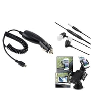 Insten 3in1 Car Charger Phone Mount Holder Accessory for Samsung GALAXY Note 3 N9000