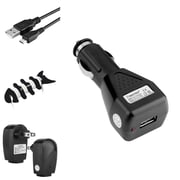 Insten Car / AC Home Wall Charger + USB Cord for Samsung Infuse 4G Galaxy S5 S4 i9500 S3 i9300 Note 3 + Fishbone Wrap