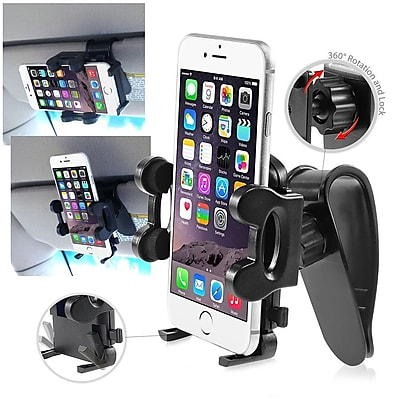 Insten Cell Phone Mount Adjustable Phone Holder for iPhone 6 6+ Plus Galaxy S4 S5 Note 4 HTC (1.57 to 4.32)