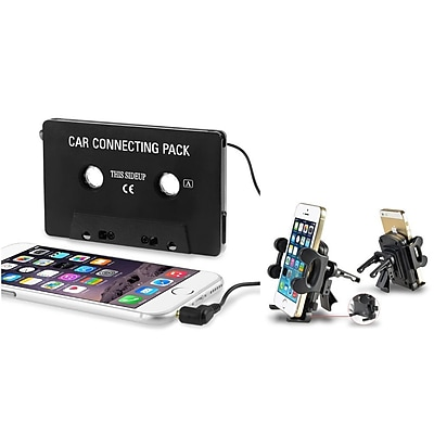 Insten Cassette Audio Adapter + Car Air Vent Holder for iPhone 6 Plus 5.5 4.7 \/ Samsung Galaxy S5 S4 S3 S2 Note 4 3 2
