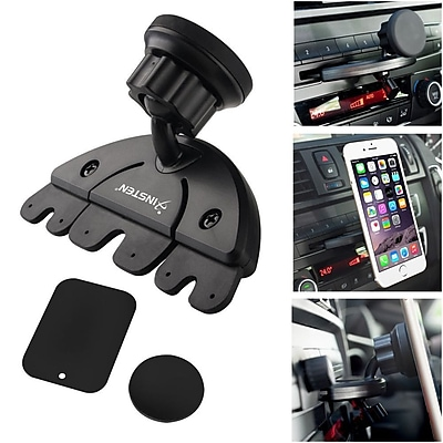 Insten Car CD Slot Magnetic Phone Holder Mount for Apple iPhone 6 6S 5 5S \/ Android Smartphone Universal