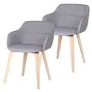 !nspire Fabric Accent Chair, Grey, 2/Pack