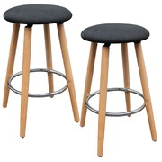 !nspire Backless Counter Stool with Charcoal Fabric