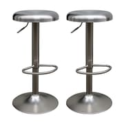 !nspire Backless Adjustable Stainless Steel Stool, 2/Pack