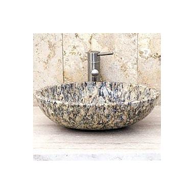 Allstone Group Oval Vessel Bathroom Sink; San Cecilia Granite