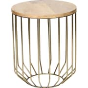 Prima Tapered Base End Table; Brass
