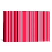 iCanvas Candy Striped Graphic Art on Canvas; 12'' H x 18'' W x 1.5'' D