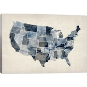 iCanvas 'Water Color Map III' by Michael Tompsett Graphic Art on Canvas; 8'' H x 12'' W x 0.75'' D