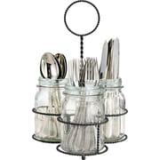 Home Essentials and Beyond Del Sol Mason Jar Flatware Caddy