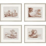 Paragon Lorrain Sketches Landscapes by Lorrain Framed Painting Print (Set of 4)