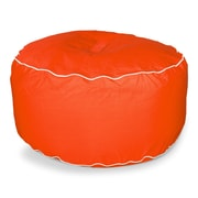 Hip Chik Chairs Sunbrella Outdoor Ottoman; Melon