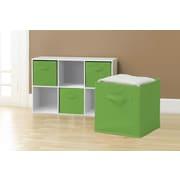 GGI International Sorbus Collapsible Foldable Storage Cube Basket Bin (Set of 6); Green