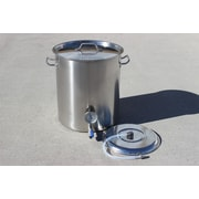 Concord Stainless Steel 60 Qt. Home Mash Tun Brew Kettle w/ 2 Welded on Couplers