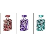 Stupell Industries lulusimonSTUDIO Leopard-Print Perfume Bottle 3 pc Wall Plaque Set (Set of 3)