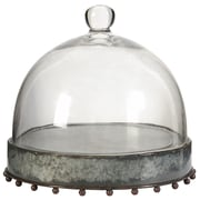 A&B Home Group, Inc Cake Stand with Glass Dome; 10'' H x 10.5'' W x 10.5'' D