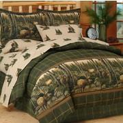 Blue Ridge Trading Rocky Mountain Elk Comforter Set; Queen