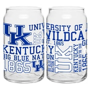 Boelter Brands NCAA 16 Oz. Spirit Can Glass (Set of 2); University of Kentucky Wildcats