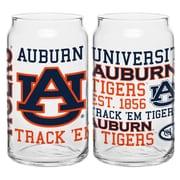 Boelter Brands NCAA 16 Oz. Spirit Can Glass (Set of 2); Auburn University Tigers