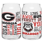 Boelter Brands NCAA 16 Oz. Pilsner Glass (Set of 2); University of Georgia Bulldogs