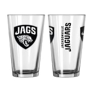 Boelter Brands NFL 16 Oz. Game Day Pint Glass (Set of 2); Jacksonville Jaguars